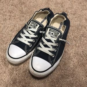 Women's Navy Converse All Star Shoes Size 8